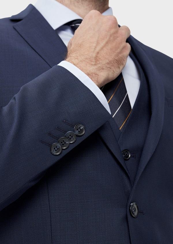 Costume 2 pièces Slim en laine unie bleu indigo - Father and Sons 35079