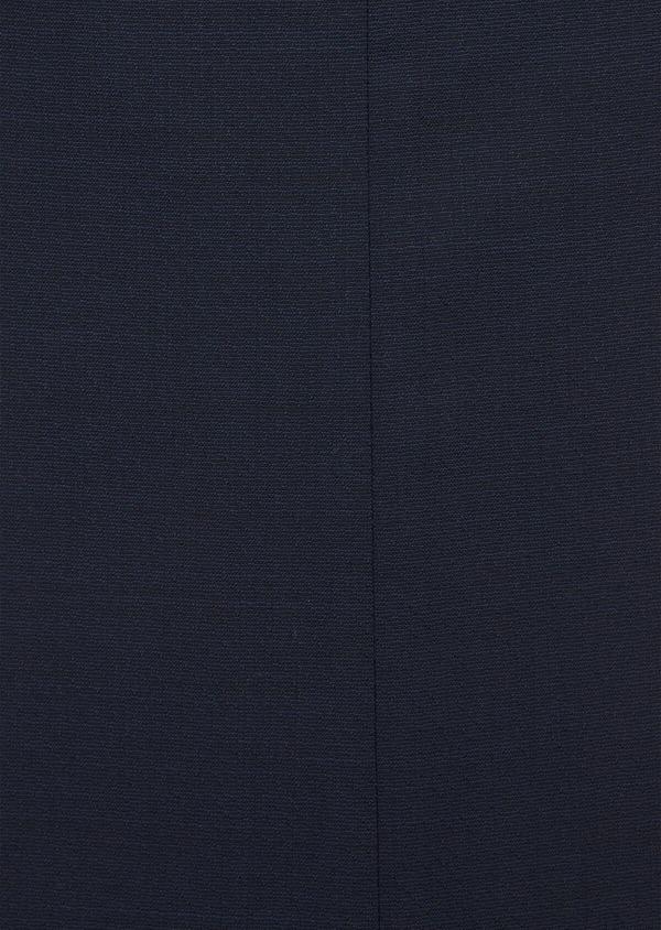 Costume 2 pièces Slim en laine stretch naturelle unie bleu marine - Father and Sons 37484
