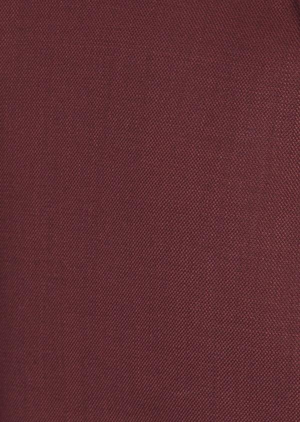 Costume 2 pièces Slim en laine stretch naturelle unie bordeaux - Father and Sons 37547