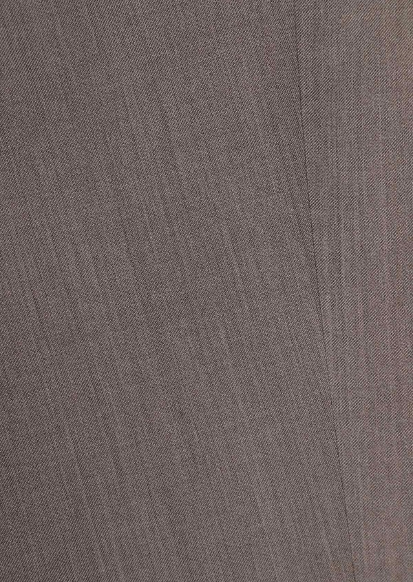 Costume 2 pièces Slim en laine stretch naturelle unie taupe - Father and Sons 35054