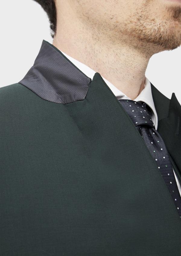 Costume 2 pièces Slim en laine stretch unie verte - Father and Sons 37508