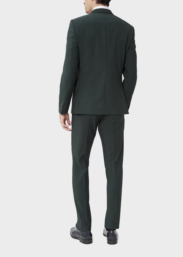 Costume 2 pièces Slim en laine stretch unie verte - Father and Sons 37507