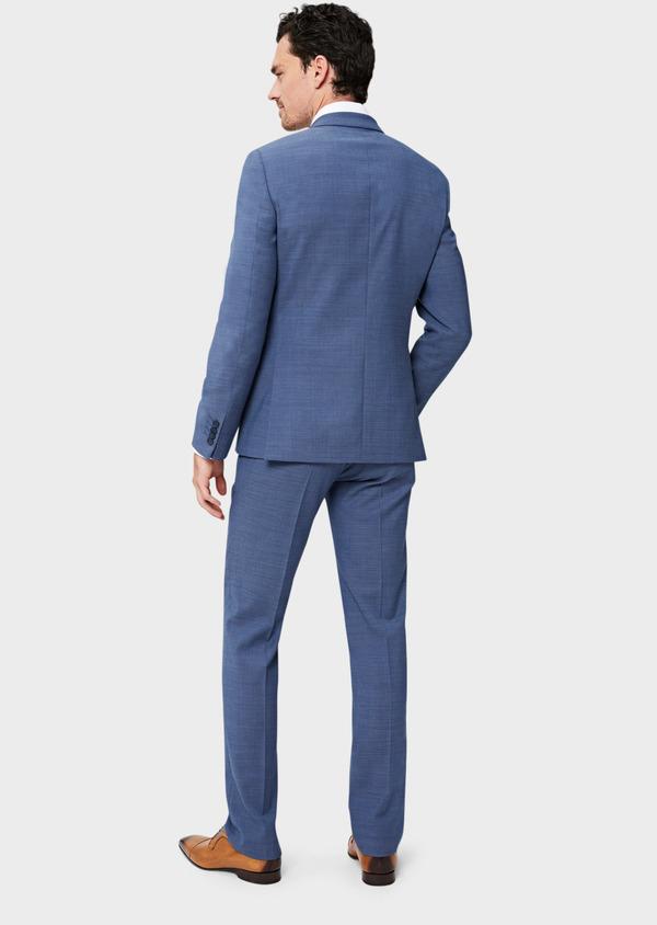 Costume 2 pièces Slim en laine unie bleu indigo - Father and Sons 40935