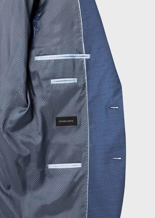 Costume 2 pièces Slim en laine unie bleu indigo - Father and Sons 40938
