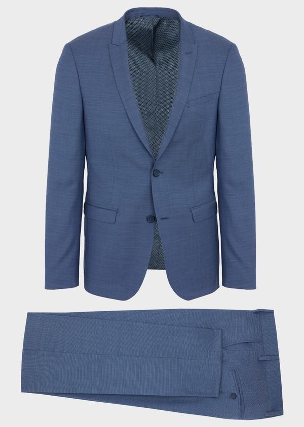 Costume 2 pièces Slim en laine unie bleu indigo - Father and Sons 40933