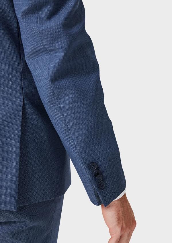Costume 2 pièces Slim en laine unie bleu indigo - Father and Sons 40937