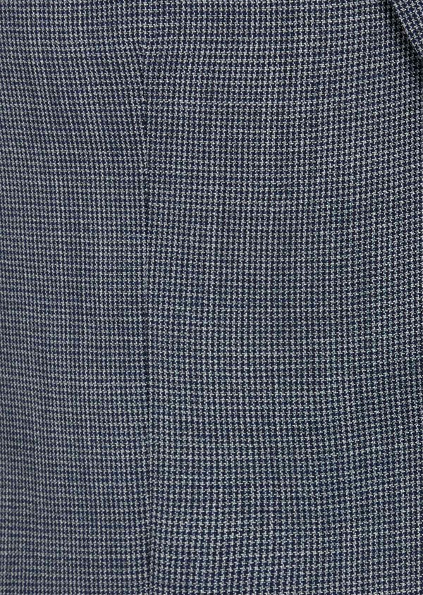 Costume 2 pièces Regular en laine unie bleu chambray - Father and Sons 40987