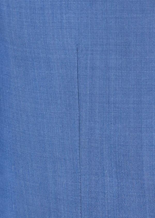 Costume 2 pièces Slim en laine unie bleu azur - Father and Sons 41008