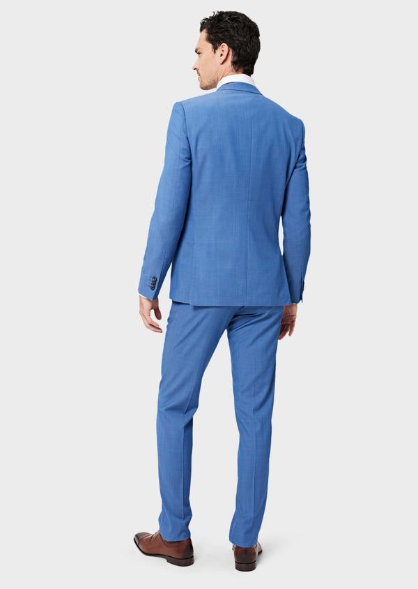 Costume 2 pièces Slim en laine unie bleu azur - Father and Sons 41004