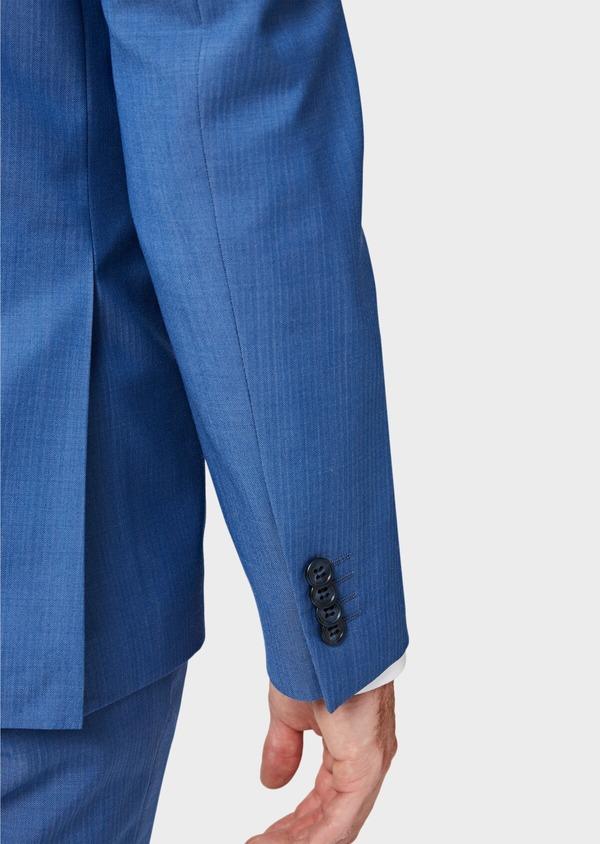 Costume 2 pièces Slim en laine unie bleu azur - Father and Sons 41006