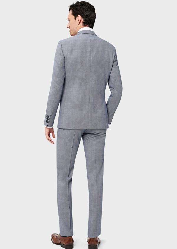 Costume 2 pièces Slim en laine unie gris clair - Father and Sons 41011
