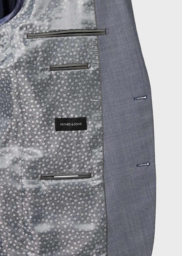 Costume 2 pièces Slim en laine unie gris clair - Father and Sons 41014