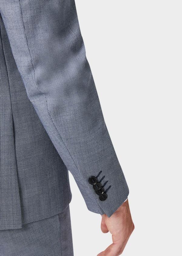 Costume 2 pièces Slim en laine unie gris clair - Father and Sons 41013