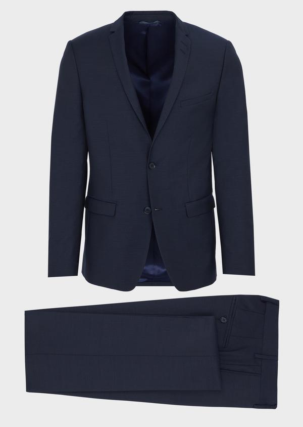 Costume 2 pièces Slim en laine unie bleu marine - Father and Sons 41030