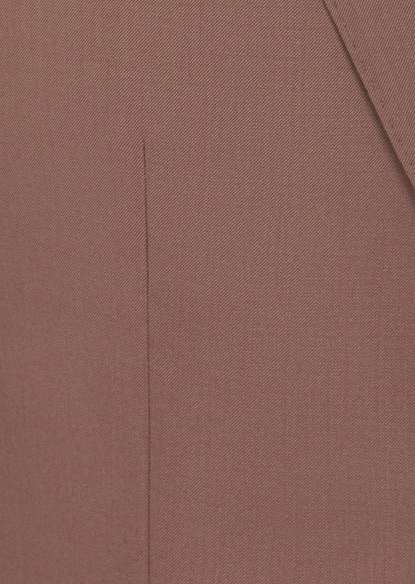Costume 2 pièces Slim en laine unie rose - Father and Sons 41001