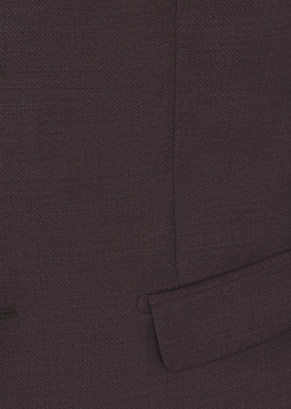 Costume 2 pièces Slim en laine unie bordeaux - Father and Sons 40959