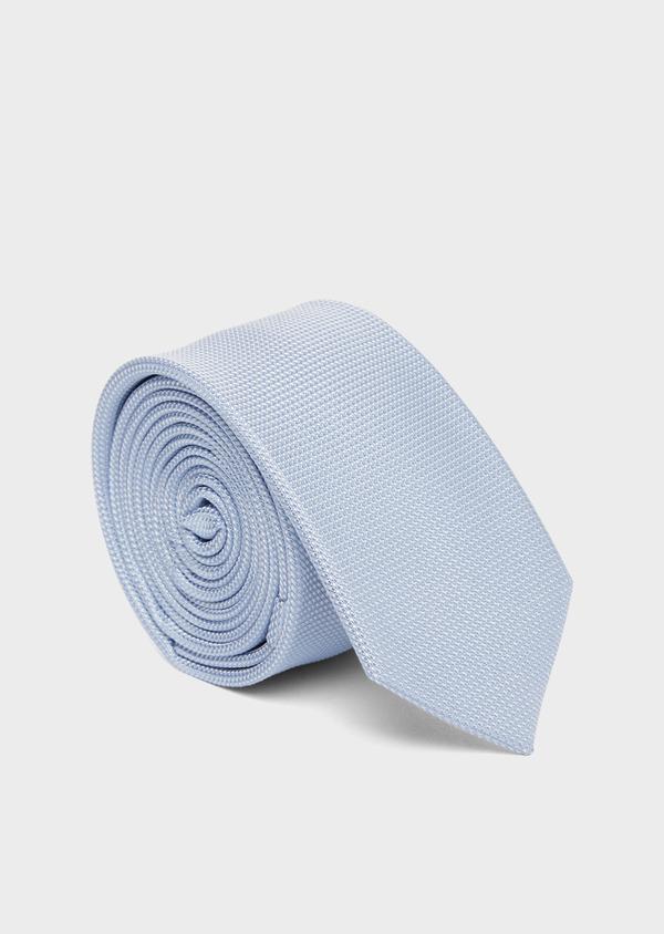 Cravate fine en soie unie bleu ciel - Father and Sons 37797