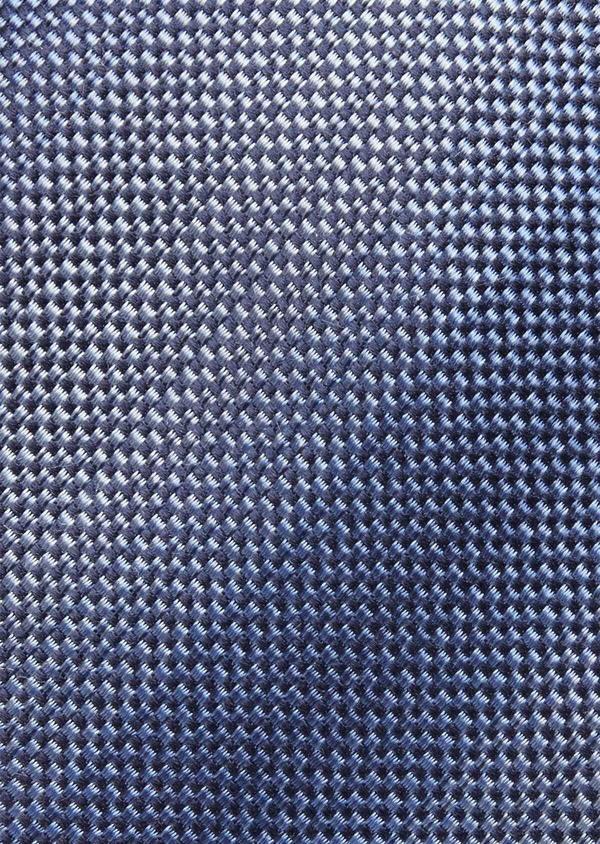 Cravate fine en soie à rayures bleues - Father and Sons 37834