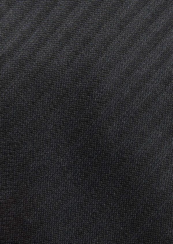 Cravate fine en soie noire à rayures ton sur ton - Father and Sons 37828