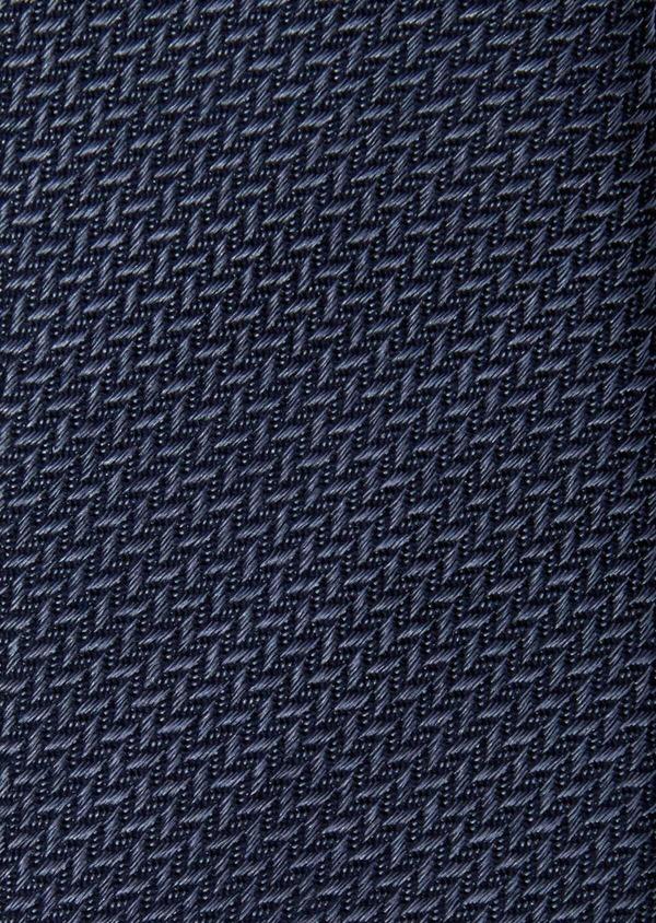 Cravate fine en soie bleue à motifs géométriques - Father and Sons 37888