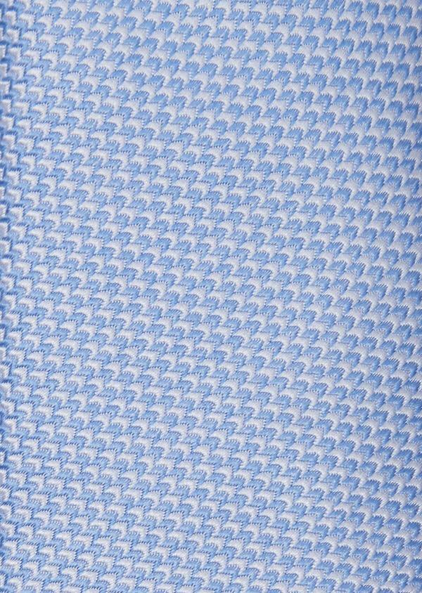 Cravate fine en soie à motifs géométriques bleu ciel et blanc - Father and Sons 37896