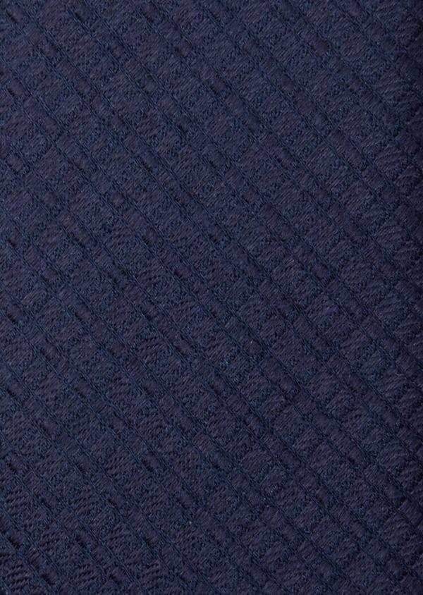 Cravate fine en soie bleu marine à motifs géométriques - Father and Sons 37894