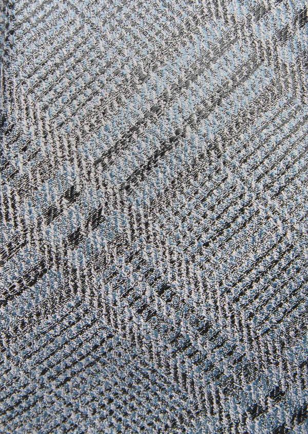 Cravate fine en soie bleu et gris Prince de Galles - Father and Sons 41090