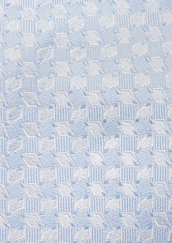 Cravate fine en soie à motifs géométriques bleu ciel - Father and Sons 41060