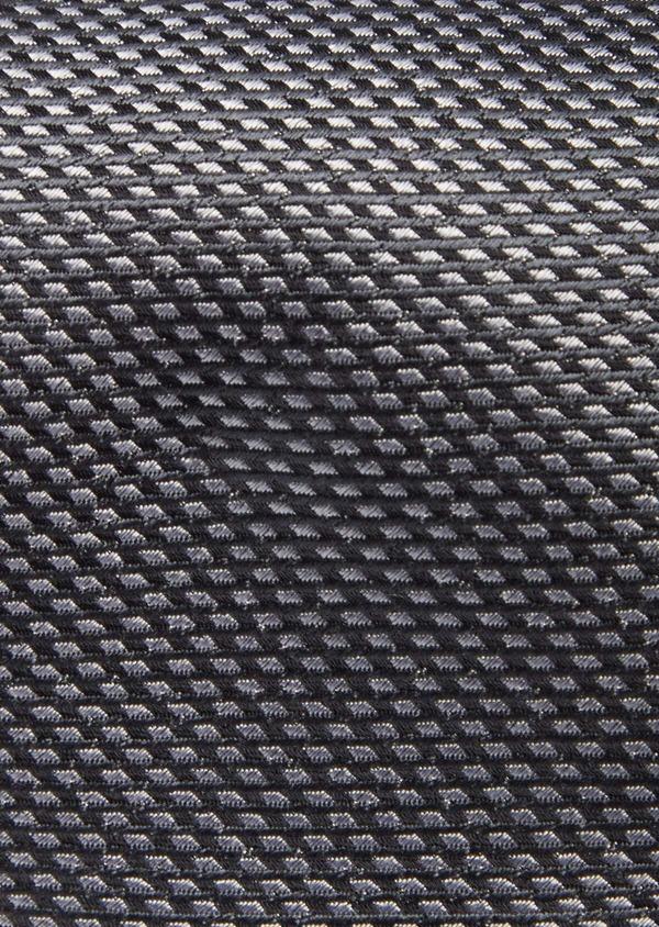 Cravate large en soie grise à motifs géométriques - Father and Sons 41114