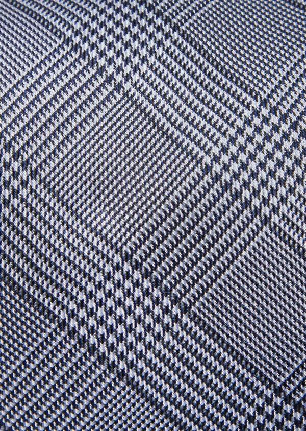 Cravate large en soie bleue Prince de Galles - Father and Sons 41110