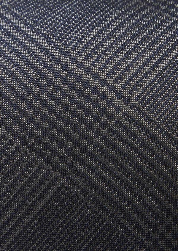 Cravate large en soie bleu indigo Prince de Galles - Father and Sons 41124