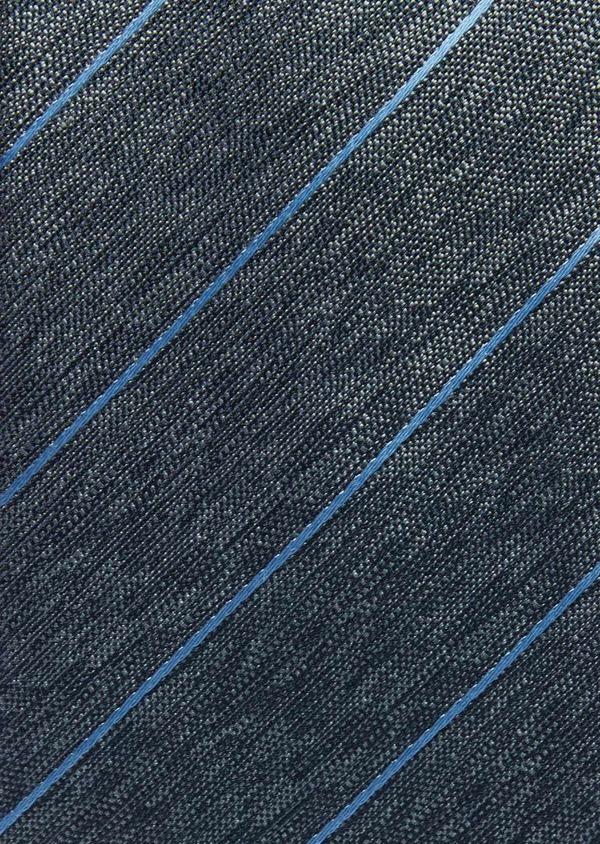Cravate club large en soie vert et bleu - Father and Sons 37794