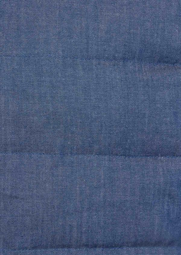 Doudoune light sans manches unie bleue - Father and Sons 38641