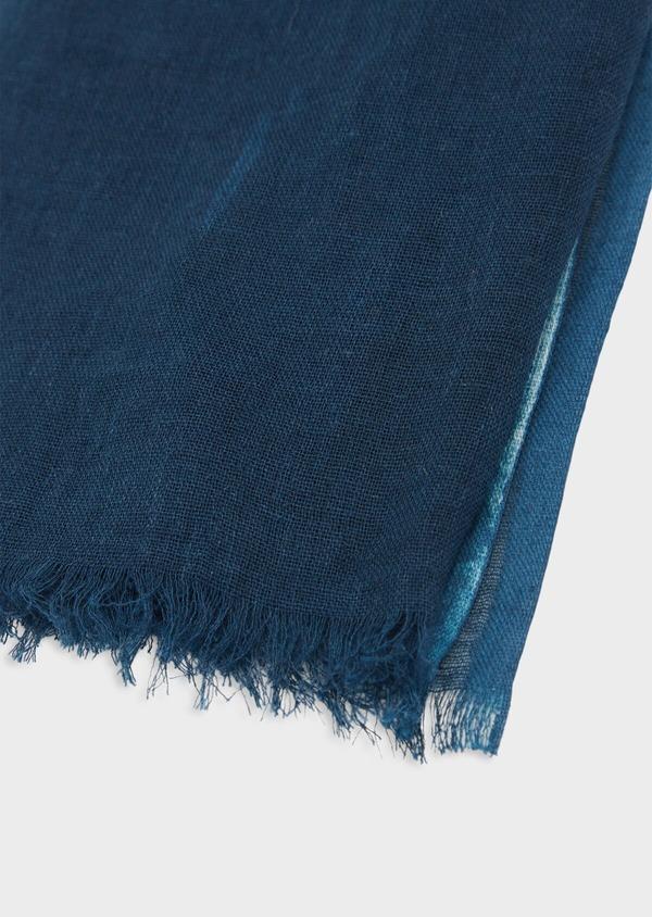 Écharpe en coton blanc à motif fantaisie bleu - Father and Sons 38646
