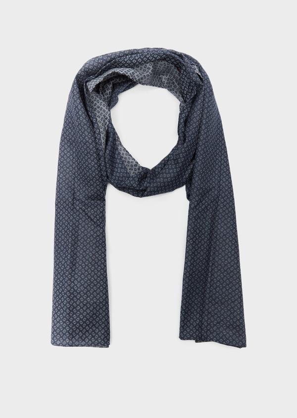 Écharpe en coton à motif fantaisie bleu et gris - Father and Sons 37917