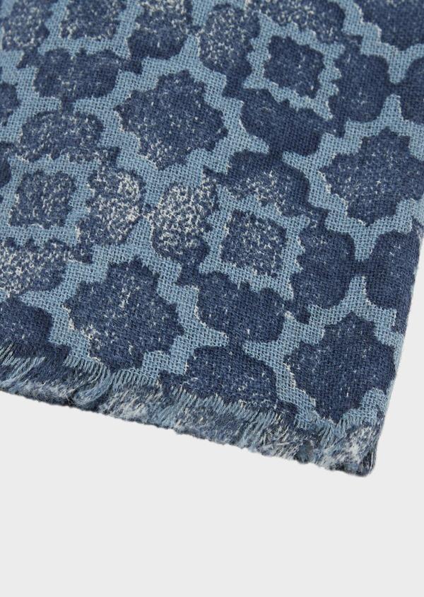 Écharpe en coton à motif fantaisie bleu - Father and Sons 39491