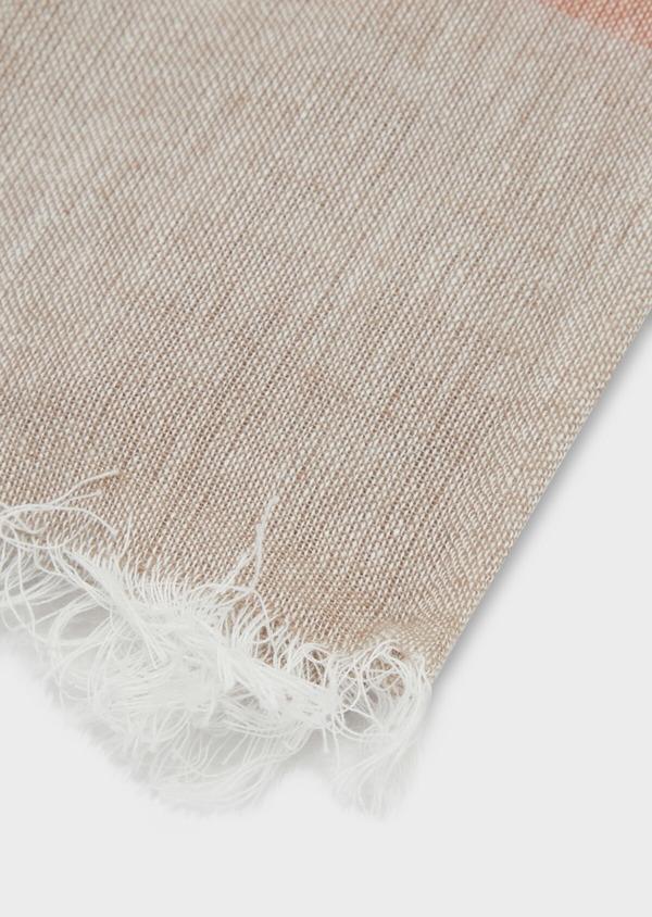 Écharpe en coton à rayures grises, marron et blanches - Father and Sons 37910