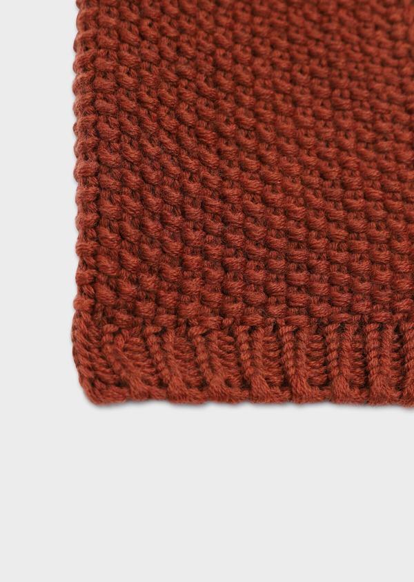 Écharpe en laine mérinos unie orange - Father and Sons 35677