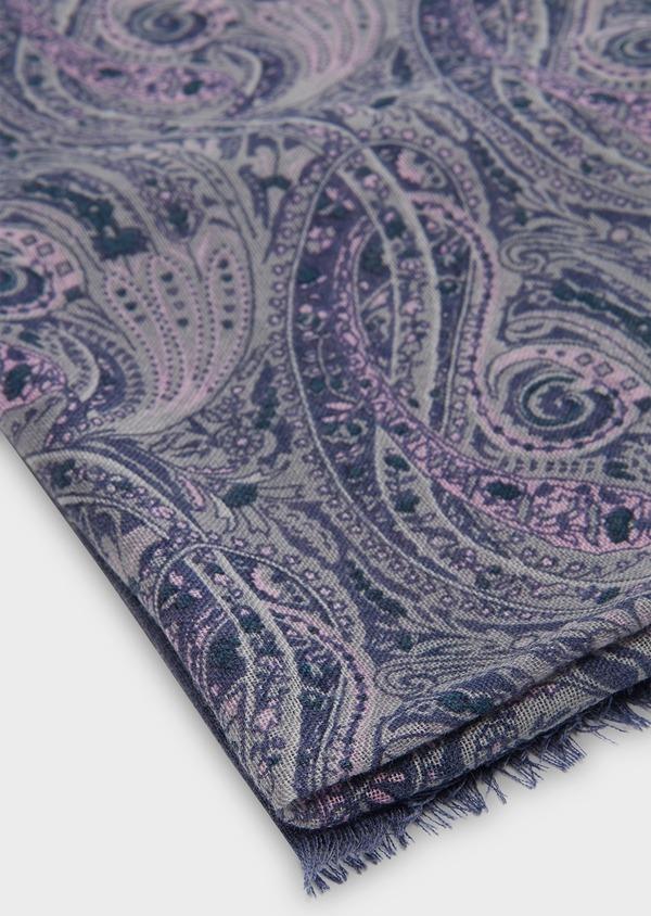 Écharpe en laine violette à motif fantaisie - Father and Sons 26767