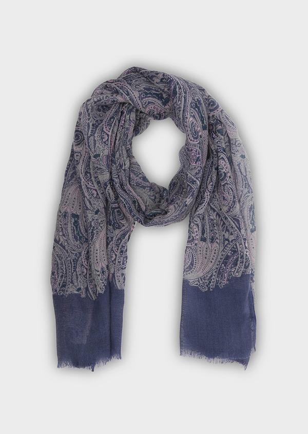 Écharpe en laine violette à motif fantaisie - Father and Sons 26766