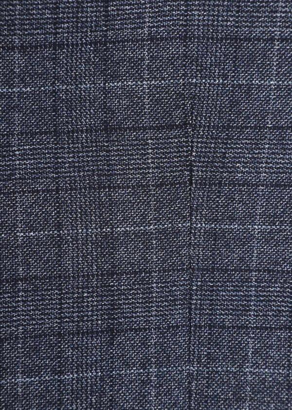 Gilet casual en laine mélangée bleu chambray Prince de Galles - Father and Sons 35998