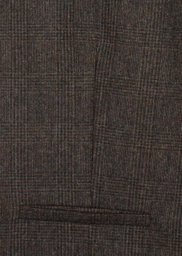 Gilet casual en laine mélangée marron Prince de Galles - Father and Sons 36698