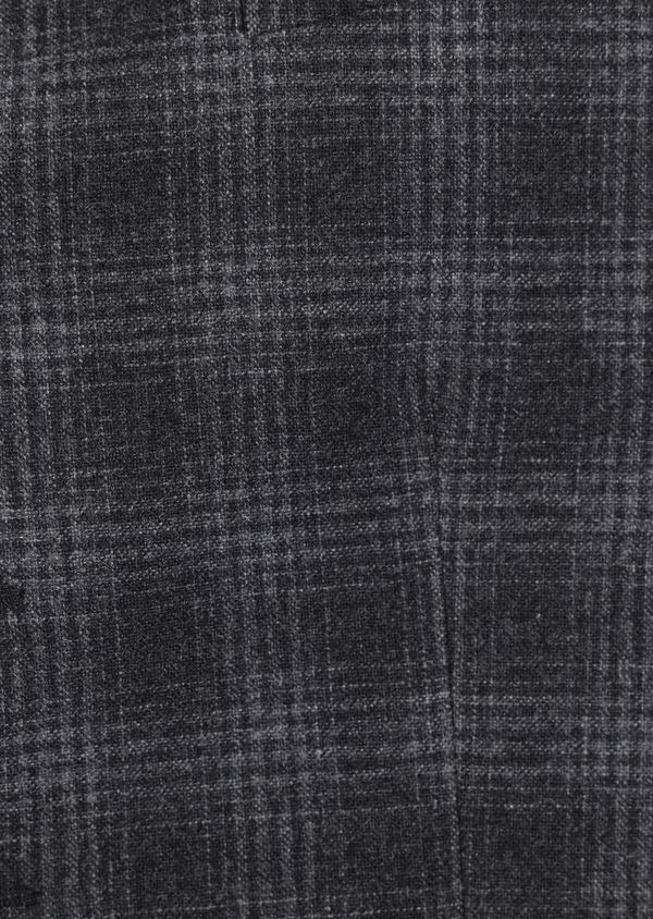 Gilet casual en laine mélangée gris Prince de Galles - Father and Sons 35272