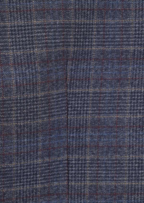 Gilet casual bleu indigo Prince de Galles - Father and Sons 35267