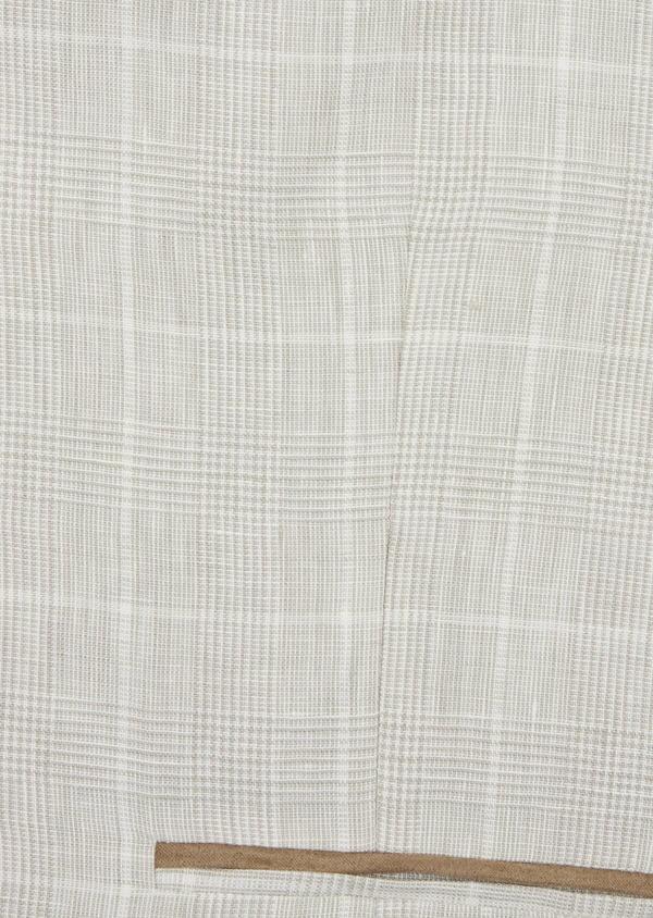 Gilet casual en lin beige Prince de Galles - Father and Sons 38654