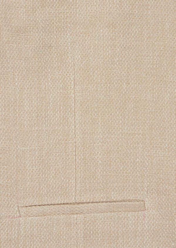 Gilet casual en lin et coton uni beige foncé - Father and Sons 39830