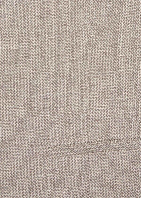 Gilet casual en coton et lin uni beige foncé - Father and Sons 39161