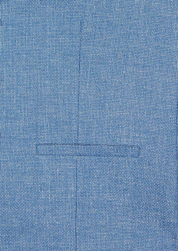 Gilet casual en lin et coton uni bleu - Father and Sons 39824