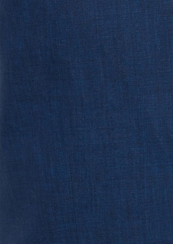 Gilet casual en lin uni bleu indigo - Father and Sons 40088