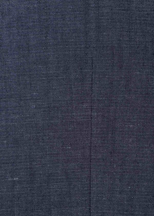 Gilet casual en coton mélangé uni bleu - Father and Sons 33829